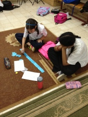 YEAR 7 STUDENTS CREATING RHYTHM PATTERNS IN MUSIC CLASS