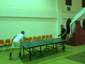 The Gym - Teachers playing pingpong during a school break