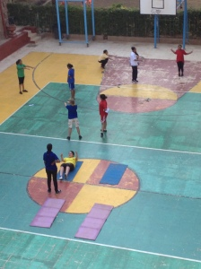 GIRLS AND BOYS DO P.E. SEPARATELY IN THE SECONDARY SCHOOL