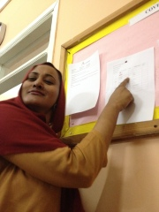 """THE DREADED """"COVER"""" BOARD.  GOTTA CHECK IT EVERY MORNING BECAUSE IF SOMEONE IS ABSENT IN SECONDARY, OTHERS HAVE TO """"COVER"""" THEIR CLASS DURING THEIR FREE TIMES--Nobody like this!!"""