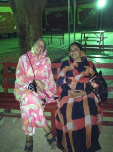 Colleagues hanging out..Sudanese ladies style