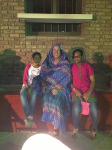 """Students with """"Miss Robin"""", honorary Sudanese Lady!"""
